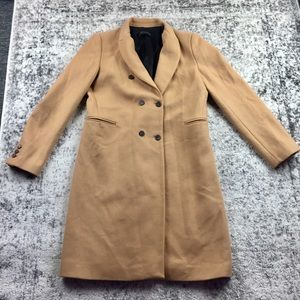ZARA Camel Double Breasted Overcoat